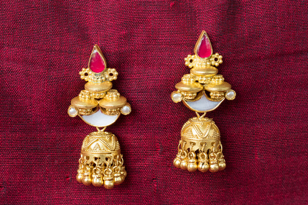 20a458-silver-gold-plated-amrapali-earrings-pearl-glass-chandelier-jhumka