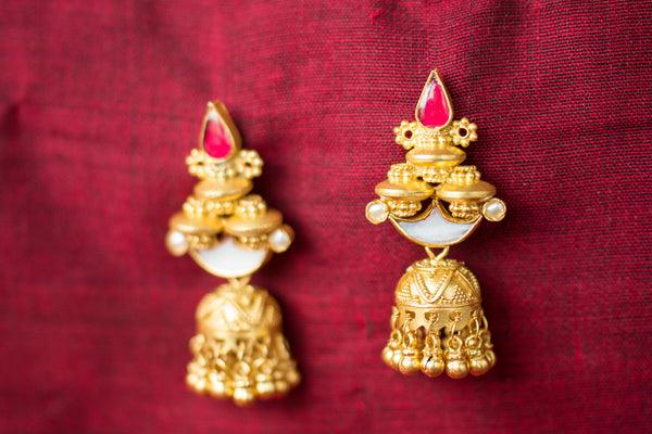 20a458-silver-gold-plated-amrapali-earrings-pearl-glass-chandelier-jhumka-alternate-view