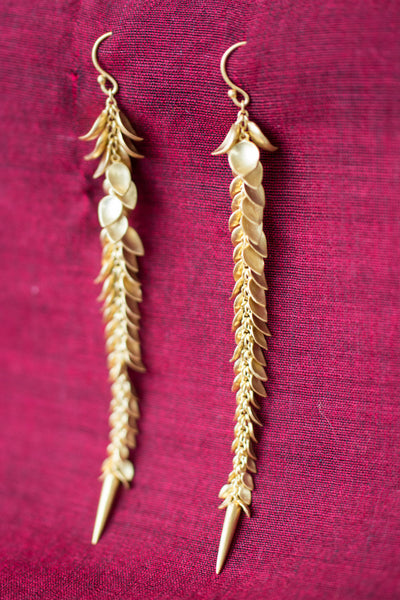20a468-silver-gold-plated-amrapali-earrings-leaf-motif-drop-alternate-view