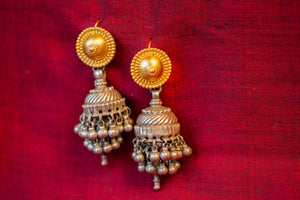 20a521-silver-gold-plated-amrapali-earrings-two-tone-disc-chandelier-alternate-view