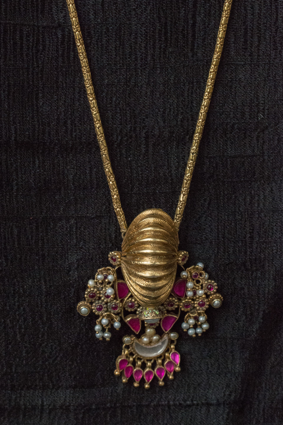 20a522-silver-gold-plated-amrapali-necklace-raised-design-pink-white-pearl-accents