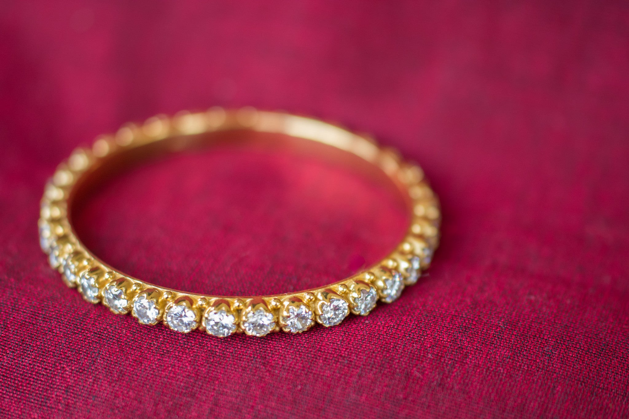 20A528 Silver Gold Plated Amrapali Bangle with Rose-cut Zircon