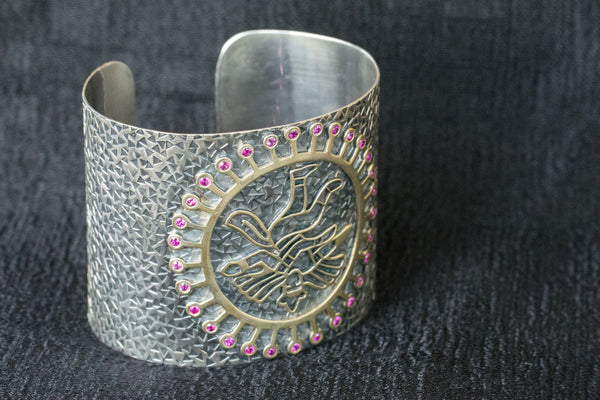 20a545-silver-gold-plated-amrapali-bracelet-two-tone-cuff-pink-zircon