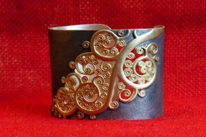 Silver Gold Plated Cuff Bracelet