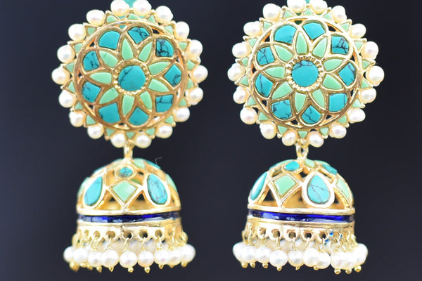 20a623-silver-gold-plated-turquoise-amrapali-earrings-A