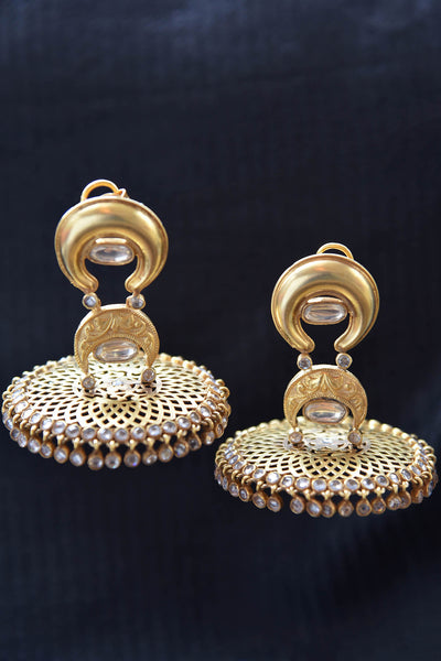 20A795 Unique Amrapali Earrings With Glass