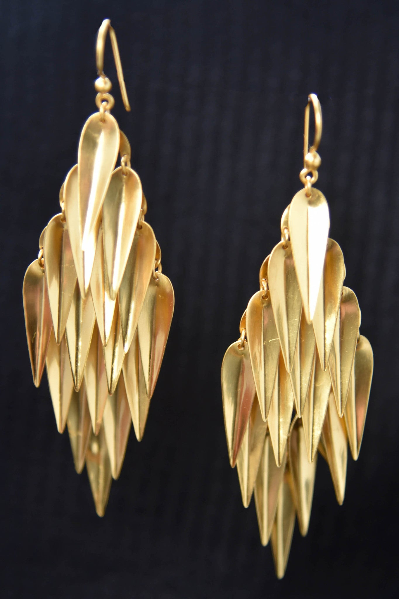 20A819 Bold & Beautiful Silver Gold Plated Earrings