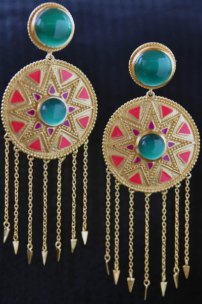 20A841 Colorful & Contemporary Amarpali Earrings