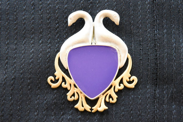 20A882 Silver Gold Plated Enamel Pendent