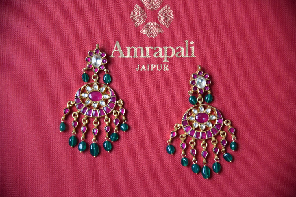 Indian Traditional gold plated amarapali glass jewelry from Pure Elegance online or from our store in USA. Perfect for any wedding, reception, sangeet or engagement. Amrapali Jewerly.