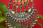 Buy silver Amrapali colored glass thread necklace online in USA at Pure Elegance. Our fashion store brings an exquisite collection of Indian silver jewelry for women in USA.-full view