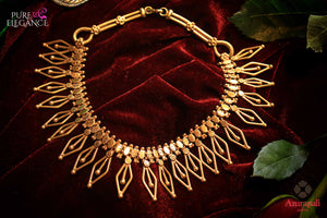 Shop Silver Gold Plated Rohmb Choker Necklace online in USA from Amrapali.  If you are looking for Indian silver jewelry in USA, then Pure Elegance Indian fashion store is the place for you. A whole range of exquisite of ethnic Indian jewelry is waiting for you on our shelves, you can also opt to shop online.-flat lay