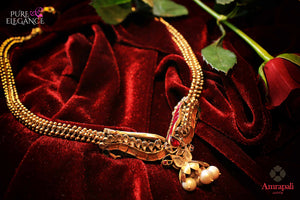Shop online Silver Gold Plated Pearl Glass Necklace online in USA from Amrapali.  If you are looking for Indian silver jewelry in USA, then Pure Elegance Indian fashion store is the place for you. A whole range of exquisite of ethnic Indian jewelry is waiting for you on our shelves, you can also opt to shop online.-flat lay