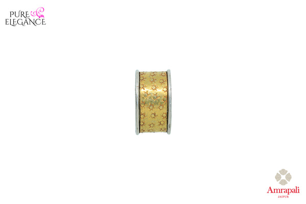 Buy Amrapali. silver gold plated band ring online in USA. An exquisite collection of beautiful Indian silver gold plated jewelry is waiting at Pure Elegance exclusive Indian fashion store in USA or shop online at the comfort of your home.-front view