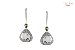 Buy silver elephant hook earrings online in USA by Amrapali. Adorn your Indian traditional look with an exquisite range of Indian silver jewelry available at Pure Elegance fashion store in USA or shop online. -full view
