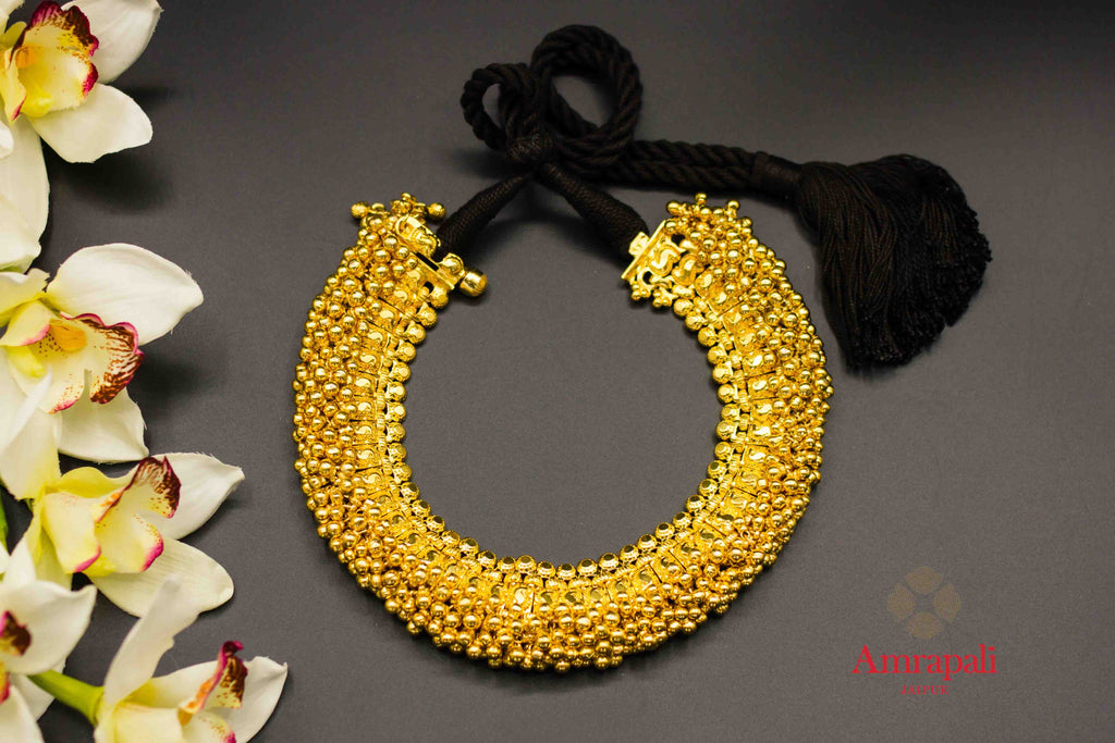 2d7a2a59ca 20C291 Silver Gold Plated Ghungroo Thread Necklace—Regular price$ 495.00