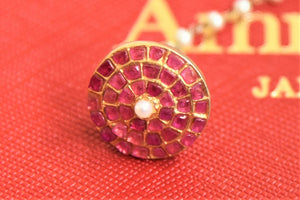 Buy beautiful Amrapali silver gold plated ruby mangtikka online in USA. Give yourself a beautiful traditional makeover this wedding season with exquisite gold plated jewelry, silver jewelry from Pure Elegance Indian fashion boutique in USA.-flatlay