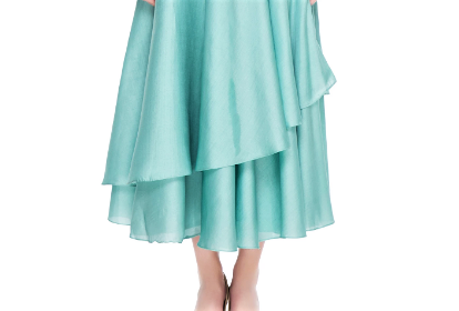 Buy pastel blue layered skirt online in USA with dusty pink embroidered peplum top. Give a touch of elegance to your style with an exclusive range of Indian formal dresses, designer lehengas, Indowestern dresses from Pure Elegance Indian fashion store in USA or shop online.-skirt