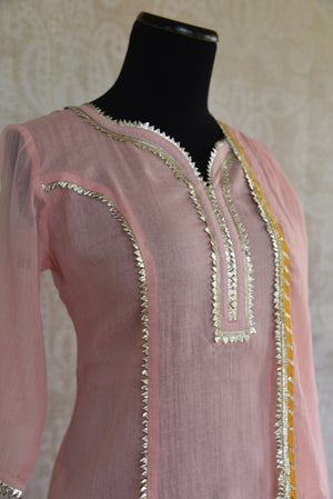 Buy the Indian traditional skirt kurta set with chunni online or from our Pure Elegance store in Edison near NJ. It is ideal for any wedding party or engagement. Pink Kurta.