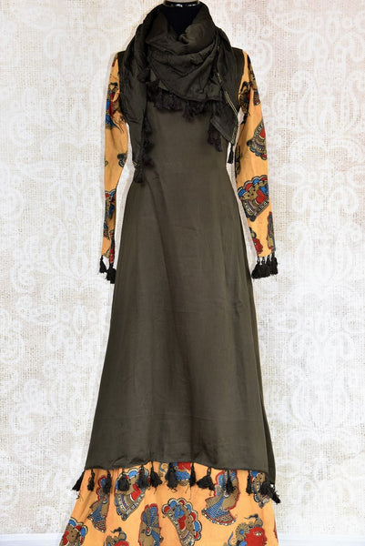 Buy black chanderi dress online in USA. Pure Elegance clothing store brings an exquisite range of Indian designer dresses for online shopping in USA. Shop now.-full view