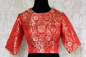 366c65a4157a67 Buy red Banarasi saree blouse online in USA. Pure Elegance clothing store  brings an exquisite