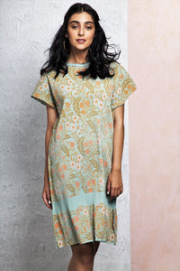 280874d3978 Buy green color printed tunic dress online in USA. Keep your style perfect  with a
