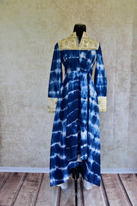 500991-suit-long-sleeve-tie-dye-blue-yoke-button-gold-embroidery-dhoti