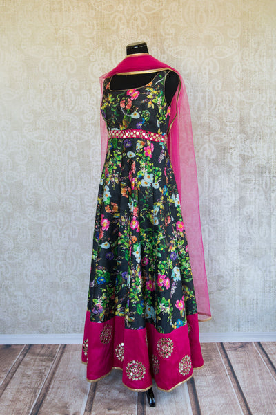 501091-suit-sleeveless-black-floral-print-fuchsia-gold-glass-accent-alternate-view