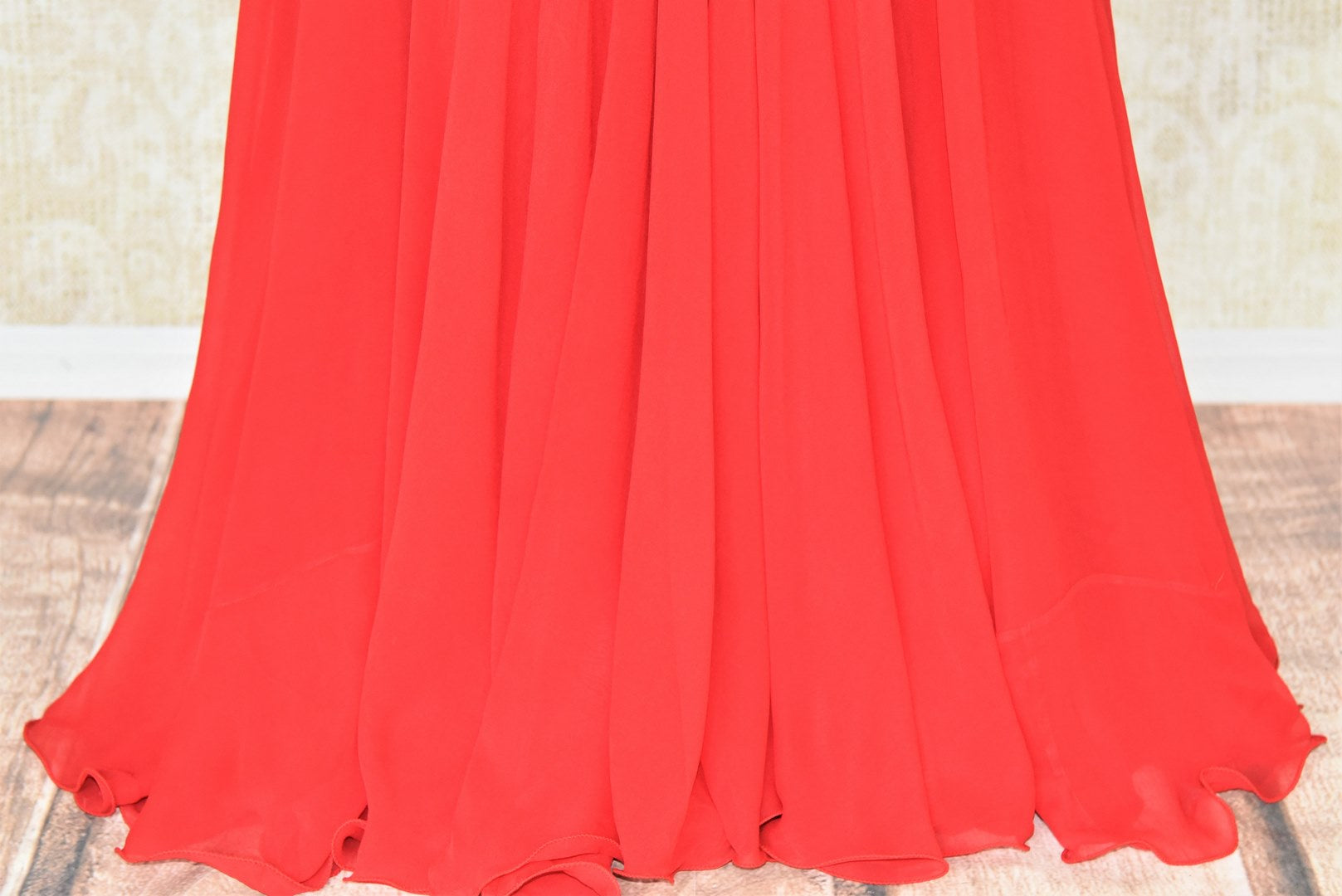 Buy red embroidered georgette dress online in USA. Add style to your look with Indian designer dresses available at Pure Elegance Indian fashion store in USA or shop online.-skirt