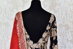 Buy beautiful black embroidered georgette suit online in USA with dupatta. If you are fond of Indian fashion then you must visit Pure Elegance Indian clothing store in USA. We have a splendid collection of Indian designer dresses, Indowestern dresses and clothing here for you on our shelves. -back