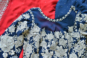 Buy beautiful black embroidered georgette suit online in USA with dupatta. If you are fond of Indian fashion then you must visit Pure Elegance Indian clothing store in USA. We have a splendid collection of Indian designer dresses, Indowestern dresses and clothing here for you on our shelves. -details