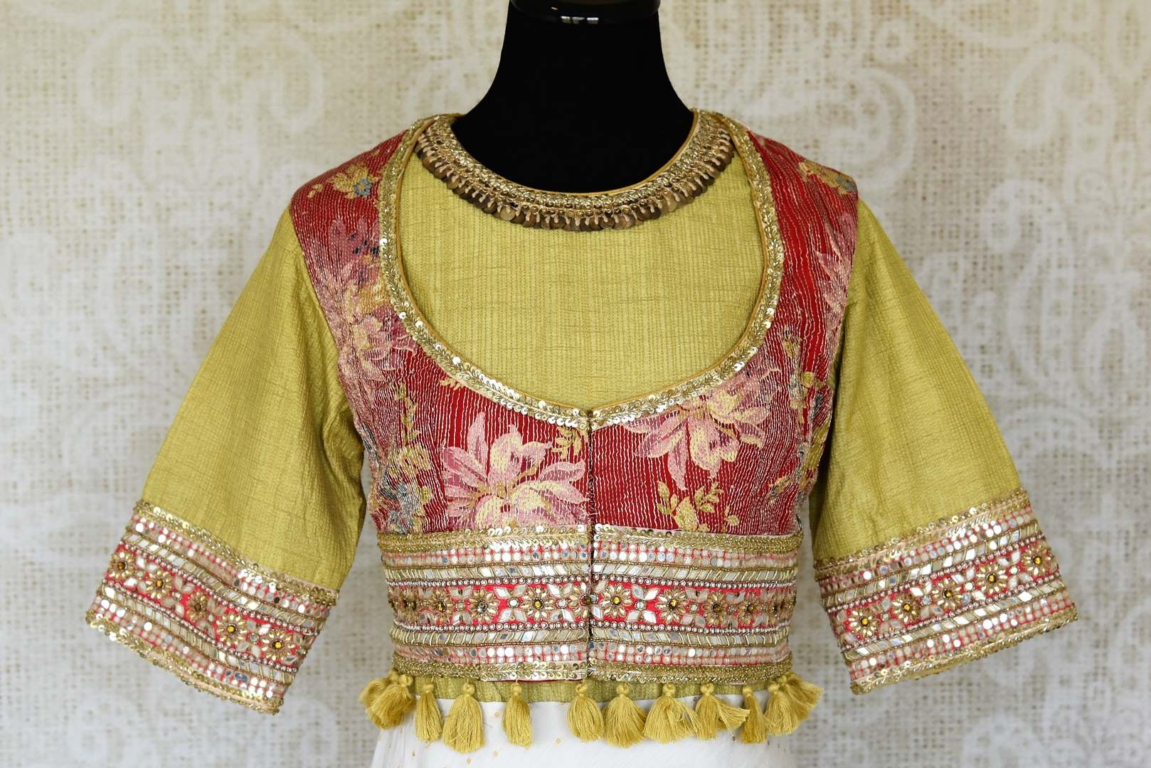 Shop white and green hand embroidery silk Anarkali dress online in USA. Raise your ethnic style quotient at special occasions with exquisite Indian clothing from Pure Elegance Indian clothing store in USA. Pick from a tasteful collection of designer lehengas, Anarkali suits, Indian dresses. Shop now.-front