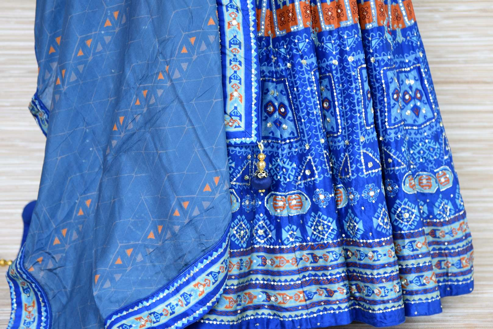 Shop blue embroidered silk Anarkali suit online in USA with dupatta. Shop more such exquisite designer Anarkali suits in USA from Pure Elegance Indian clothing store for women.-bottom
