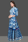 Buy gorgeous blue and white Bagru printed skirt set online in USA with dupatta. Shop designer Indian clothing, wedding lehengas, designer Anarkali, gharara suits, Indian dresses in USA from Pure Elegance Indian fashions store for parties and special occasions.-full view