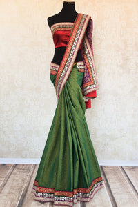 90B928 Royal bengal banarasi saree with linen embroidery can be bought online or from our Pure Elegance shop in USA. This saree is a great pick for Indian wedding functions.