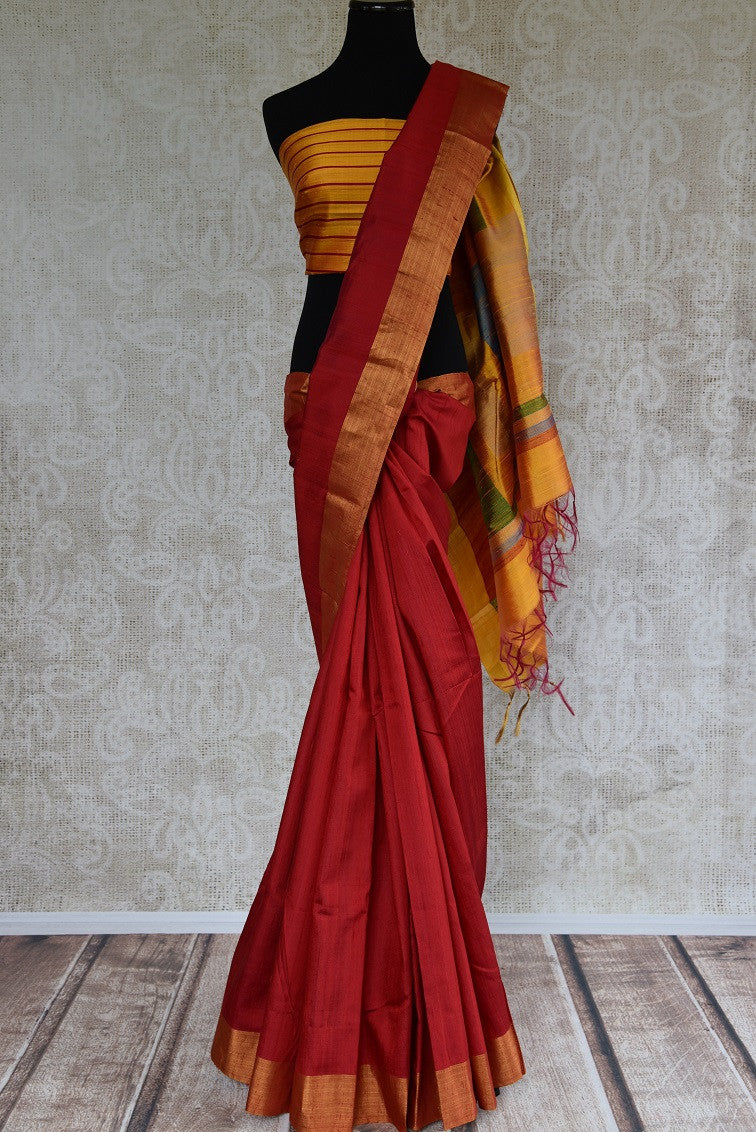 90C734 Classic Red Kanjivaram Saree