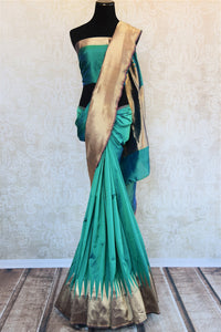 90D188 Get the Indian benarasi silk sari both online and in our store in USA. It is the perfect ethnic attire that you could flaunt at any sangeet party, puja or wedding.
