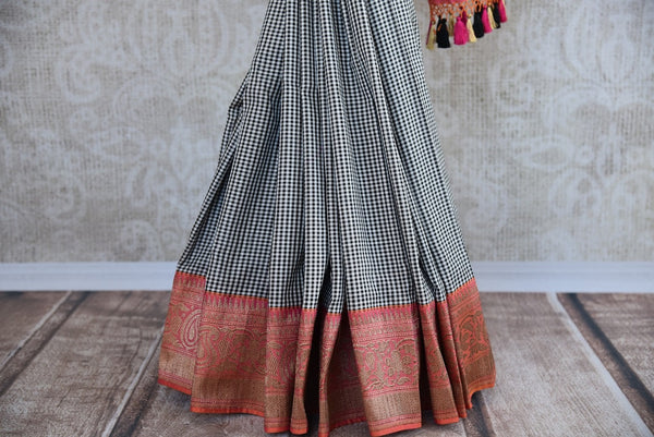 90D273 Banarasi Silk Check