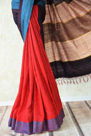 90D291Multi-color tussar / pashmina silk