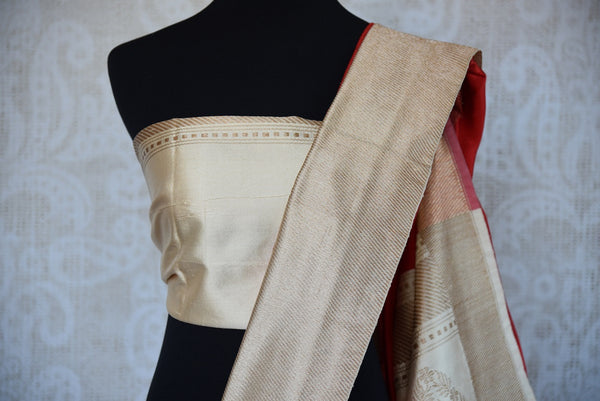 90D296 Indian traditional Benarasi woven sari best suited for any engagement, wedding or reception. Shop it online or at the Pure Elegance store in Edison. Benarasi Saree
