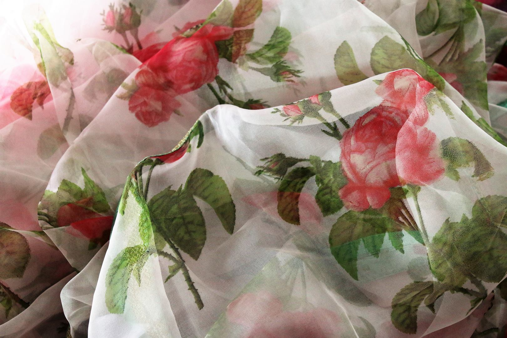 Buy beautiful pink floral print organza saree online in USA.  Pure Elegance Indian Clothing store brings an exquisite collection of handloom sarees in USA for parties and special occasions. Turn heads with stunning Indian sarees available online and our fashion store in USA.-details1