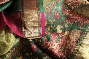 Shop elegant beige kota silk saree online in USA with printed border. Bring a touch of tradition to your Indian look with an exquisite range Indian designer sarees available at Pure Elegance Indian fashion store in USA or shop online.-details
