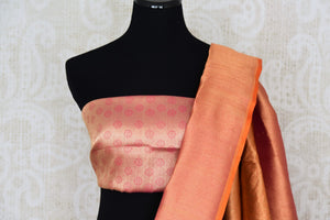 Buy beautiful red Banarasi silk sari online in USA with rich zari work. The saree is a rich drape for weddings and special occasions. If you are looking for Indian designer silk sarees, Banarasi silk saris in USA, then Pure Elegance clothing store is your one-stop solution, shop now.-blouse pallu