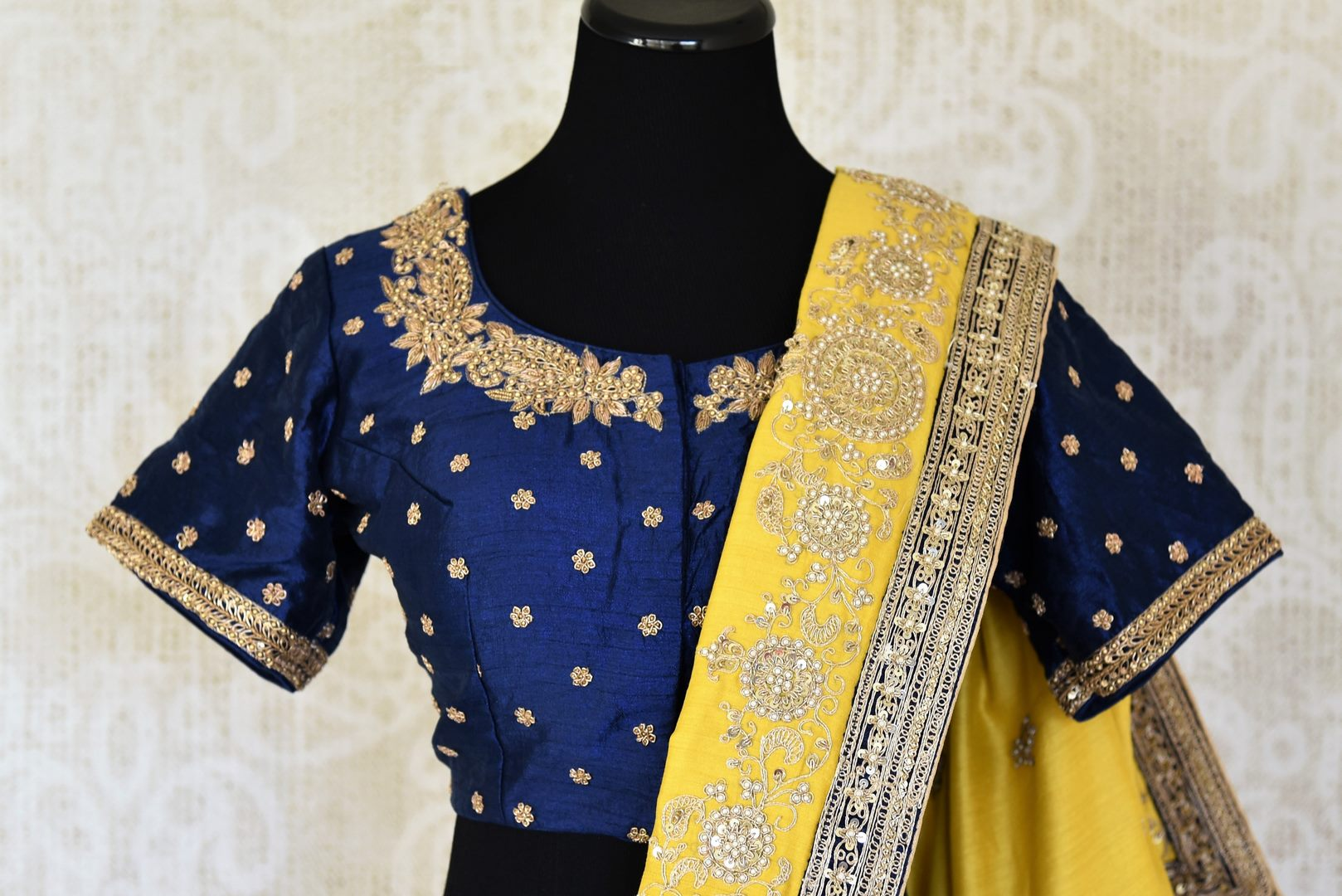 Buy yellow embroidered muga sari with saree blouse online in USA from Pure Elegance. Make your ethnic style perfect with a range of exquisite Indian designer saris with blouses, embroidered sarees, handloom saris available at our exclusive Indian fashion store in USA and also on our online store. Shop now.-blouse pallu