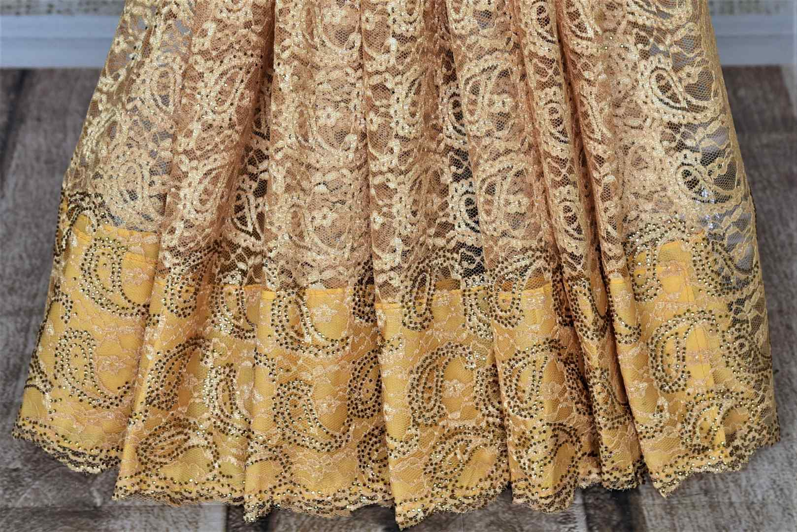 Buy elegant cream lace saree online in USA with stone work. Look beautiful on special occasions in lace sarees, embroidered sarees, designer saris from Pure Elegance Indian fashion boutique in USA. We bring a especially curated collection of ethnic sarees for Indian women in USA under one roof!-pleats