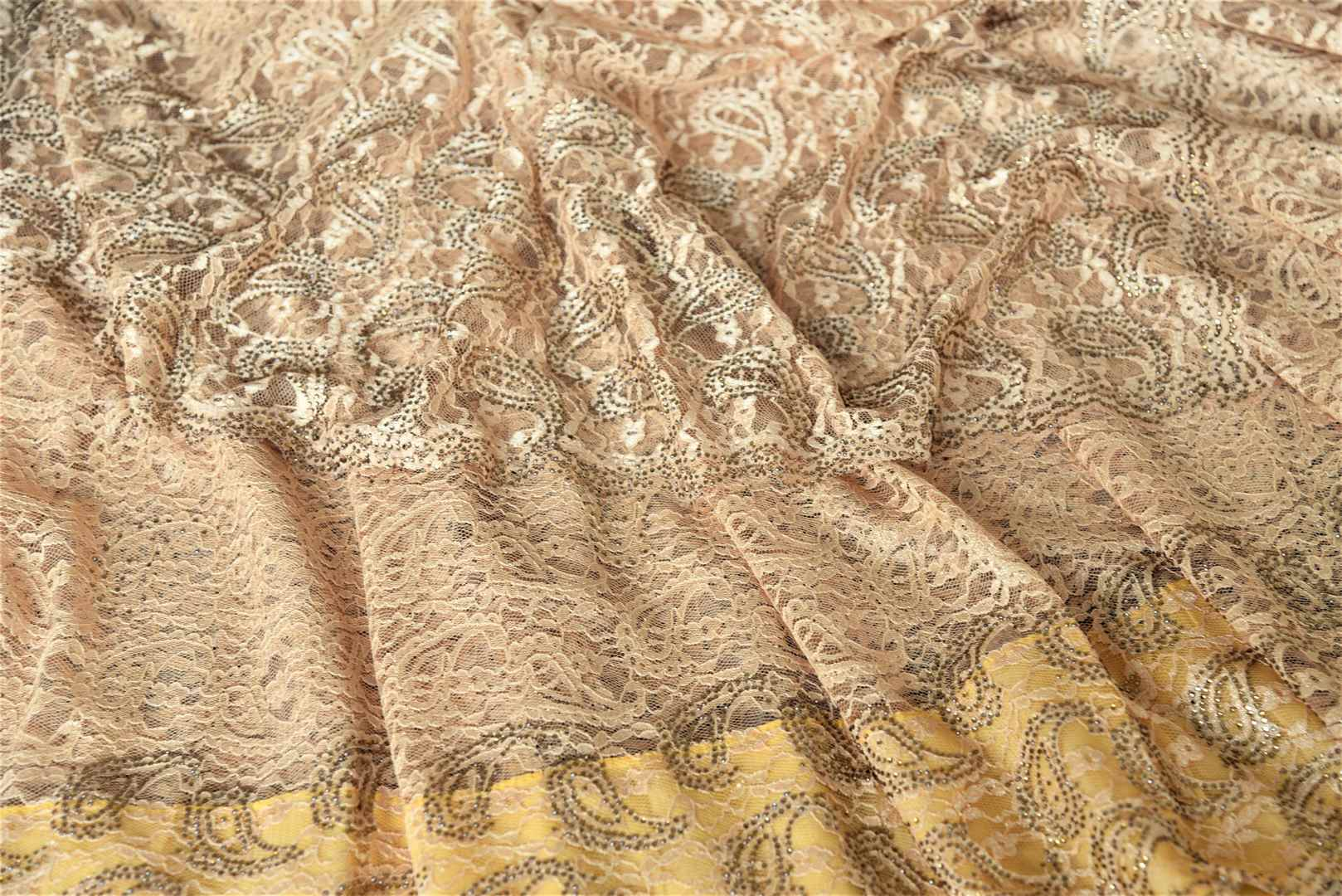 Buy elegant cream lace saree online in USA with stone work. Look beautiful on special occasions in lace sarees, embroidered sarees, designer saris from Pure Elegance Indian fashion boutique in USA. We bring a especially curated collection of ethnic sarees for Indian women in USA under one roof!-details