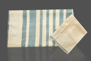 Buy elegant cream and grey stripes embroidered tussar silk saree online in USA. Shop for weddings and special occasions stunning tussar sarees, hand embroidered saris, georgette sarees, designer sarees in USA from Pure Elegance Indian clothing store in USA. Shop online now.-blouse