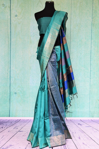 90C388 Blue Matka Saree