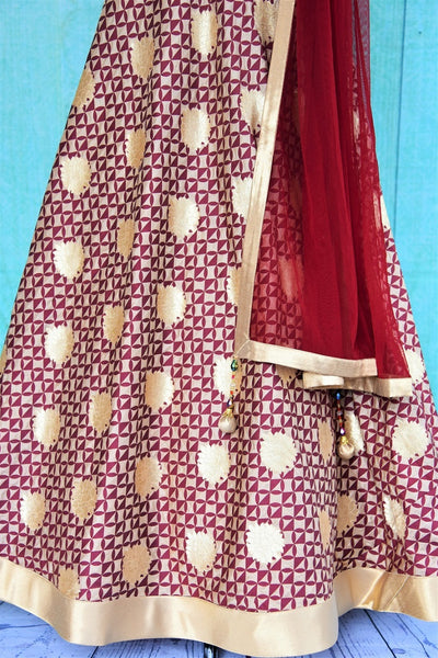 501214 Maroon & Gold Floor Length Anarkali