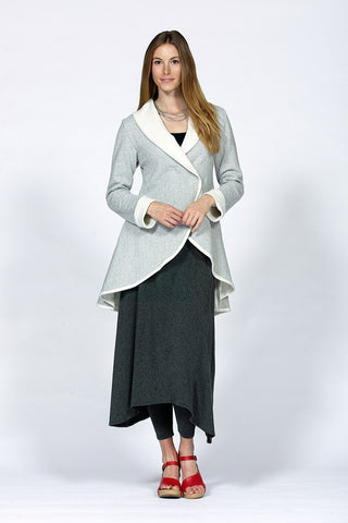 asymmetrical hem knit skirt